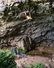 Hanging Around (gomezthecosmonaut) Tags: jamesgunn newzealand cave sonya99ii routeclimbing 135mmf18za climbing sonnart18135 rockclimbing