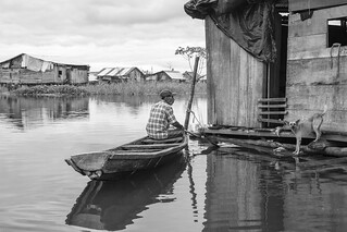 Man & Dog, Down on the River, Iquitos