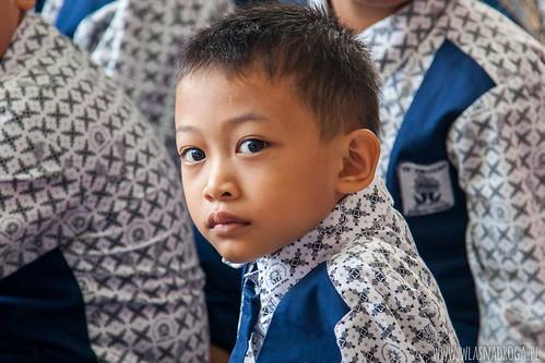 Portret chłopca ze szkoły w Dumai