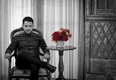 equanimity (ИвайлоВеликов) Tags: equanimity blackampwhite red chair look regard confidence motivation