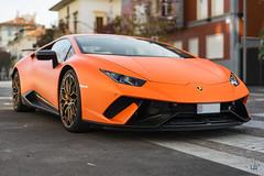 Lamborghini Huracán Performante in the wild (lu_ro) Tags: lamborghini huracán performante wild italian bull fast hypercar milan citylife orange carbon sony a7 50mm samyang
