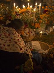 A long night (LanaScape Photos) Tags: typical alt nochedelosmuertos patzcuaro mexico elderly faith candelight