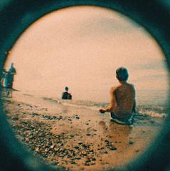 Beach time (kevin dooley) Tags: beach time babyfisheye fisheye 110
