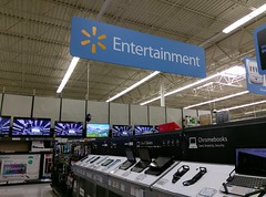 Another view of entertainment, still in the middle of the store! (l_dawg2000) Tags: 90s alcorncounty aquarium automotive bakery classic corinth delicatesen departmentstore discountstore electronics goldfish grocery hardware labelscar lawnandgarden mississippi ms pharmacy produce projectimpact supercenter vintage walmart unitedstates usa