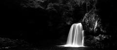 二 段 滝 (Wilson Au | 一期一会) Tags: sandankyo hiroshima japan 二段滝 monochrome blackandwhite slowshutter waterfall longexposure canon eos5dmarkiii ef2485mmf3545usm contrast landscape 日本 廣島