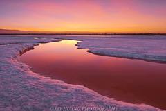 Salt White And Cloud Red (Jaykhuang) Tags: saltpond whitesalt sunrise river scurve alviso sanjose milpitas local bayarea southbay california jayhuangphotography reflections burn clouds