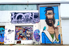 Dartmouth, Nova Scotia (Coastal Elite) Tags: dartmouth darthmouthgraffiti graffiti novascotia fisherman marin captain seaman pipe smoking pêcheur streetart urban street art urbain hrm halifax nova scotia murals mural murale murales harbourwalk harborwalk