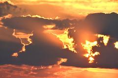 En Fuego (NaturalLight) Tags: sunset onfire enfuego clouds rays chisholmcreekpark wichita kansas