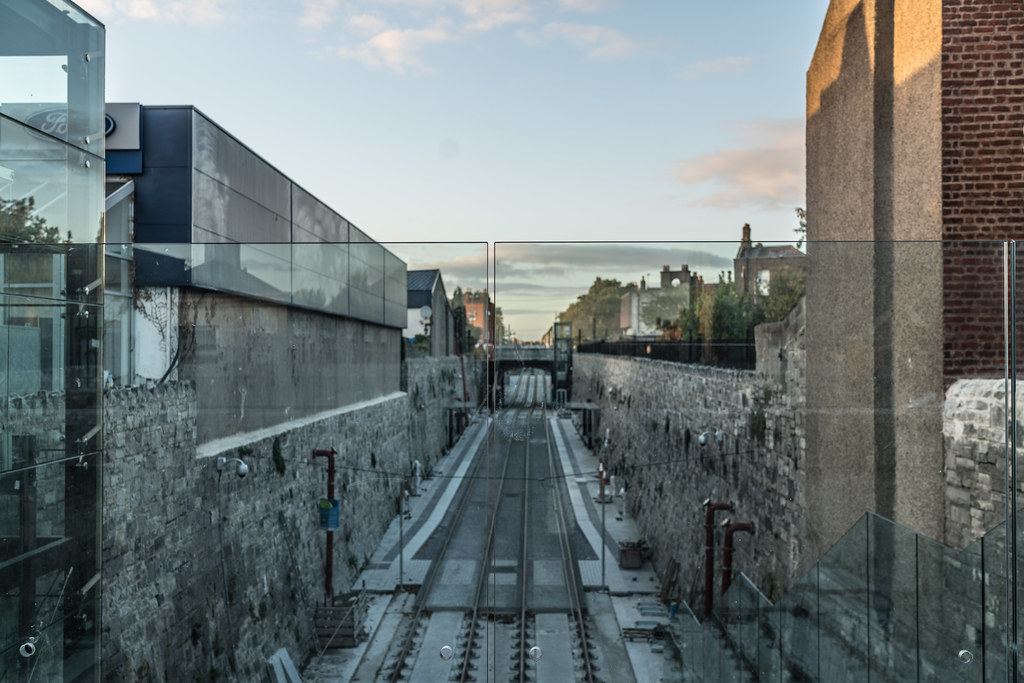 THE NEW LUAS TRAM STOP AT PHIBSBOROUGH [YOU CAN ALSO SEE THE CABRA STOP]-133099