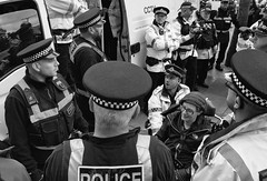 Arrest 1 (_p_e_r_s_e_p_h_o_n_e_) Tags: conservativepartyconferencemanchester2017 manchester monochrome streetphotography conservativepartyconference protest police uniform toryparty people arrest sigma1750mmf28 canoneos80d
