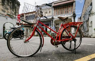 Bicycle series - Red Vintage Bike - Penang