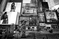 Fall In The City (Marcela McGreal) Tags: nyc newyorkcity newyork timessquare midtown fall autumn city urban billboards signs advertising bnw raw blackandwhite blackwhite bw blancoynegro blanconegro bn byn blanco negro black white noiretblanc noirblanc noir blanc biancoenero bianco nero bianconero pretobranco pretoebranco preto branco schwarzundweis schwarz weis nikond3300 nikon broadway show street photography