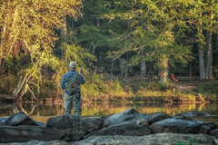 Fly Fishing on the Chattahoochee (9836) (jim fleckenstein) Tags: river fisherman flyfishing morning water canon eos 70d nature outdoors goldenhour sigma sigma24105mm 24105mm