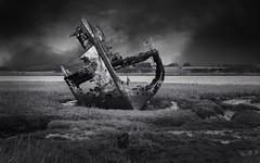 Fleetwood Wreck (TrotterFechan) Tags: blackwhite fleetwood wreck