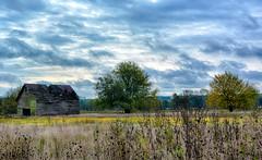 An Autumn Farm Scene (kendoman26) Tags: hdr nikhdrefexpro2 niksoftware nikon nikond7100 tokinaatx1228prodx tokina tokina1228 rural ruralscene ruralamerica corncrib landscape autumn autumncolors fall fallcolors grundycounty grundycountyillinois