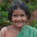 Happy old indian woman