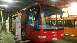 Go North East Mercedes-Benz Citaro NK08CHL 5304 at Hexham Depot.