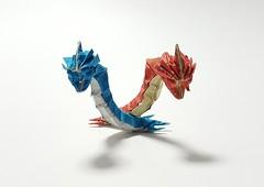 Red vs Blue (Henry Phąm's Gyarados) (joigami) Tags: origami