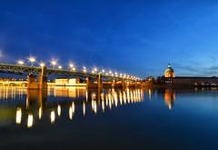 (patdebaz) Tags: toulouse haute garonne dome la grave pont saint pierre paysage reflet reflection nikon d800 pose longue heure bleue