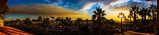 Sunset over Huntington Beach
