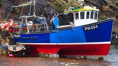 Fishing Boat, Boscastle (mpb_17) Tags: vehicle boat