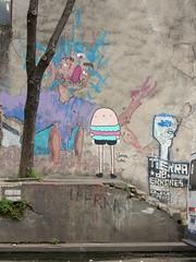 Girl (aestheticsofcrisis) Tags: street art urban intervention streetart urbanart guerillaart graffiti postgraffiti buenos aires bsas argentina la boca barracas