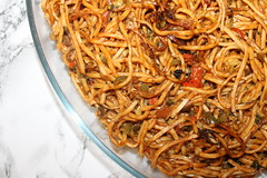 Chinese Noodles (WorldClick) Tags: canon eos 1100d canoneos1100d capture click photo photograph photographer photography life vivid settings details flickr camera worldclickphotography chinese chinesecusine cusine sauce sweet chilli fish haddock cod green noodle egg carrots peppers spring onion takeaway oriental