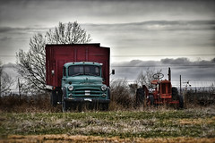 Dynamic Duo (CTfotomagik) Tags: truck tractor dodge farm rural decay colorado grass sky vintage northern weld county