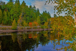 Lake Placid New York  ~ Ausable River at Franklin Road Bridge