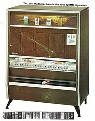 Cigarette machine, circa 1975 (STUDIOZ7) Tags: cigarettes smoking smoker vending machine 1970s 70s seventies salem viceroy benson hedges kool tobacco pack