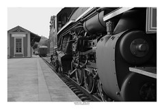 Locomotive 353 (Marcos Jerlich) Tags: locomotive restored train station village railway railroad house window dof bokeh field focus details contrast flying flickr 7dwf bw blackandwhite bnw monochrome blancoynegro mono luiscarlos guararema brasil américadosul canon canont5i canon700d efs1855mm november marcosjerlich