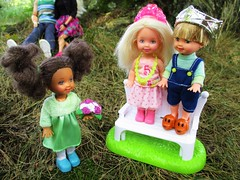 Pretend play (flores272) Tags: kellydoll chelseadoll barbiedoll outdoors doll dolls toy toys