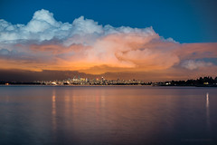 LIT 💡🏪 Vancouver, BC (Michael Thornquist) Tags: englishbay downtownvancouver spanishbanks cityscape citylights clouds cloudporn reflection vancouver myportcity 604now photos604 explorebc explorecanada canoncanada ilovebc britishcolumbia pacificnorthwest pnw canada 500px