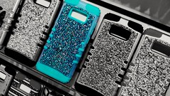 Blue (MoparMadman63) Tags: grapevinemillsmall shoppingmall cellphone case sparkling glittering studded blue