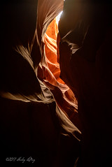 Slotted Darkness (shirley319) Tags: 2017 arizona d600 glencanyon lakepowell nationalparks october page southwest upperantelopecanyon canyon layers sandstone shadowsandlight slotcanyon unitedstates