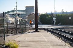 #DTPHX-7.jpg (johnroe1) Tags: dtphx bicycle warehousehistoricdistrict railroadtracks baseball