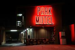 Park Motel (avilon_music) Tags: parkmotel motels motel motelsigns neon neonsigns streetscenes markpeacockphotography nightphotography midcentury 1946 la 1940smotels venturablvd losangeles nightshots 5dmkiii red vintagemotelsigns motorcourtmotels