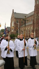 Erie seminarians leading the 2017 Rosary March - October 8, 2017