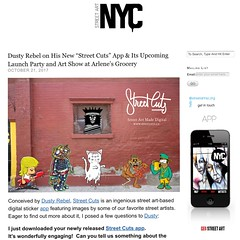 Dusty Rebel launches digital street art/sticker app — with the Primate & more (LoisInWonderland) Tags: dustyrebel thedustyrebel streetart stickerart digitalart streetcuts streetcutsapp theprimate abelincolnjr hiss knor belowkey citykitty