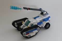 ZX-TURTLE (Blazingrat96) Tags: lego space tank zx turtle blazingrat blazing rat 96 blue white brick mocs