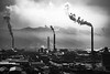 Kawanoe Industrial Area (Hiro_A) Tags: kawanoe industrial industry factory plant shikoku shikokuchuo ehime japan chimney smoke blackwhite bw nikon d3100 1855mm haze