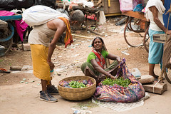 Market scene in Varanasi, India. (cookiesound) Tags: varanasi india holycity street streetscene travel travelphotography travelphotographer documentary inspiration canon cookiesound ullimaier nisamaier market marketscene vendor sellinggoods vegetables woman streetvendor life marketlife