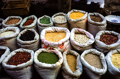 Pulses for Sale (gwpics) Tags: asia asian beijing china chinese commerce eastern fareast film fiuji food market openair pulses streetmarket eating exterior outdoors outside 中国 北京