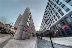 Hallmarkt (p h o t o . w o r l d s) Tags: hallmarkt finanzamt rewe hallesaale sachsenanhalt fisheye fischauge 7artisans75mm28 hdr tonemapping photoworlds photomatix fujixt10