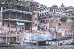Varanasi - Ganges River - boat ghats-2