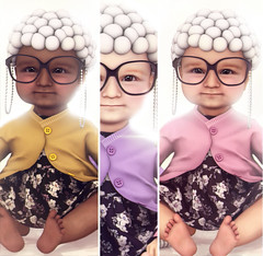 Kustom9 (♥ Stasey Oller ♥) Tags: black bantam old lady babies kustom9 birthday pink acid stasey oller kids halloween dress up