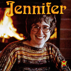 Jennifer (Jim Ed Blanchard) Tags: lp album record vintage cover sleeve jacket vinyl weird funny strange kooky ugly thrift store novelty kitsch awkward god religion religious christian jennifer fireplace fire hell glasses sweater toothy grin teeth macdonald canada