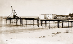 """21 Jun 1927 - """"View of Coogee Pier, Sydney."""", New South Wales, Australia (restored version)"""