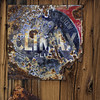 Climax Plus – Grand Old Chew (MyArtistSoul) Tags: randsburg ca livingghosttown population69in2010 downfrom77afewyearsearlier exterior old rusty metal steel signs climax plus grandoldchew weathered wood wall grain textures typography red blue minimal urban square 3609