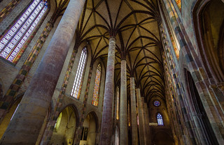 The nave and its pillars, Church of the Jacobins